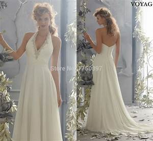 designer beach vestidos a line halter neck chiffon With designer beach wedding dresses