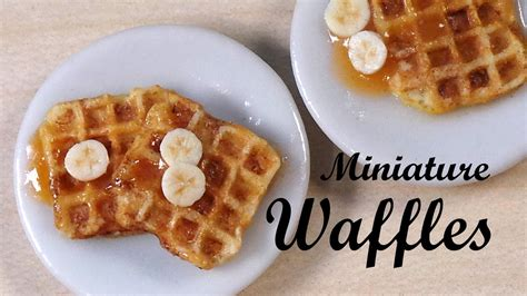 realistic miniature waffles polymer clay tutorial youtube