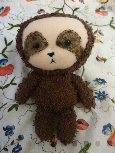 sloth plush  sloth plushie sewing  cut