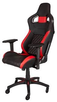 buy corsair gaming t1 race gaming chair black red