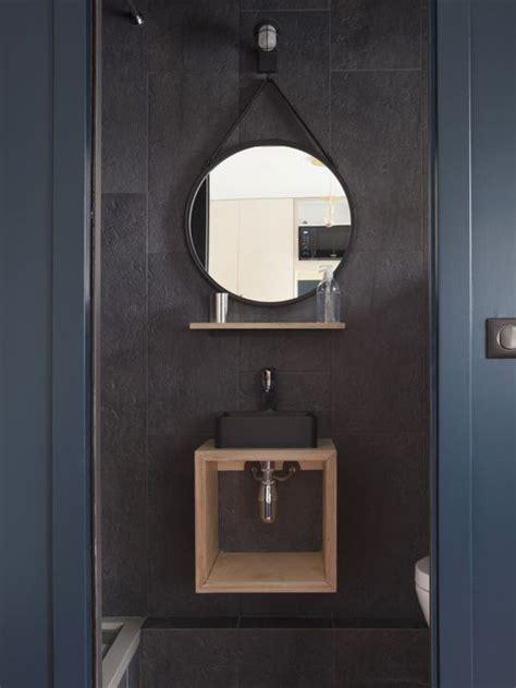 wall decoration at photos et idées déco de wc et toilettes avec un mur noir