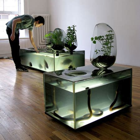 L Shaped Glass Desk Walmart by 15 Unusual And Creative Aquariums