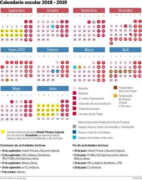 calendario escolar de aragon   avvbarriojesus
