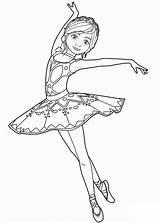 Coloring Ballet Pages Gorgeous Dancer Dancers Dancing Dance Forkids Lovely sketch template