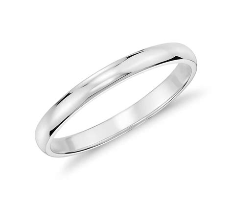 wedding ring white gold classic wedding ring in 14k white gold 2mm blue nile