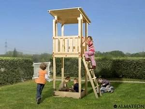 Jeux En Bois Extérieur : tour de jeu pour enfants micky en bois brut 100 x 82 x h ~ Premium-room.com Idées de Décoration