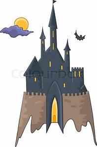 Cartoon Illustration Castle Isolated On White Background