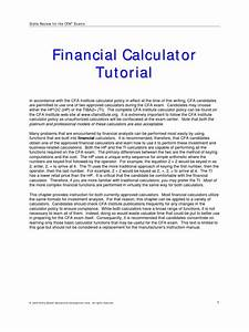 Financial Calculator Guide