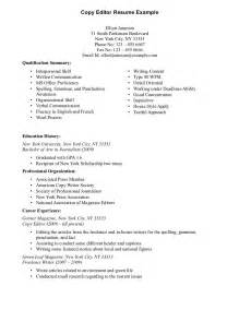 writing a basic resume exles resume for copy editor