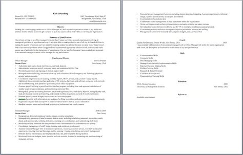 sample resume for office manager position office manager resume worklife pinterest resume and