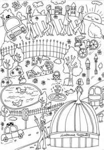 madame tussauds museum coloring page  printable