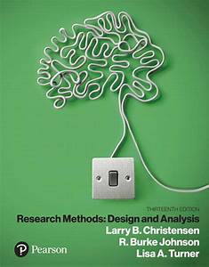 Test Bank For Research Methods Design And Analysis 13th