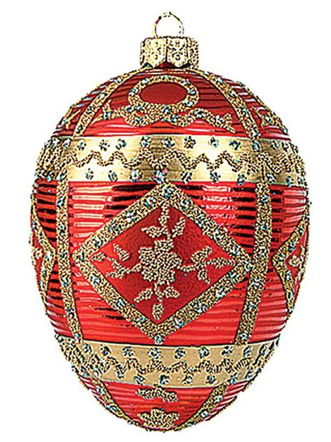 faberge christmas ornament   berry red pinterest