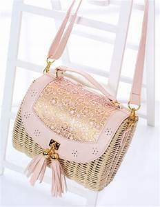 Sac En Paille Original : sac main en paille tricoter avec frange bandouli re ~ Melissatoandfro.com Idées de Décoration