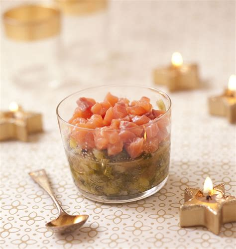 cuisine de a à z verrines tartare de saumon à l orange et fondue de poireaux au