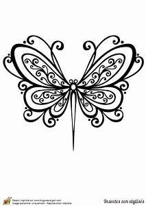 Dessin Facile Papillon : dessin colorier d 39 un papillon stylis ~ Melissatoandfro.com Idées de Décoration