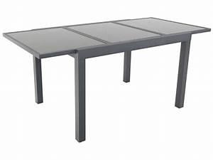 Table Aluminium Extensible : table de jardin extensible aluminium tropic 8 phoenix anthracite 86526 ~ Teatrodelosmanantiales.com Idées de Décoration