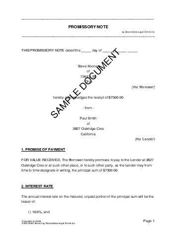 promissory note pakistan legal templates agreements