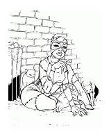 Coloring Catwoman Cats Street sketch template