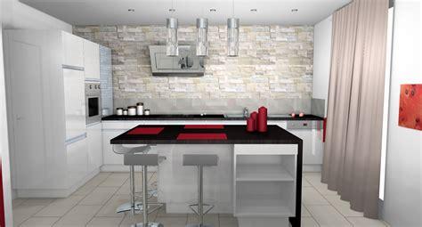 buffet cuisine blanc cuisine moderne parement contemporain mobilier