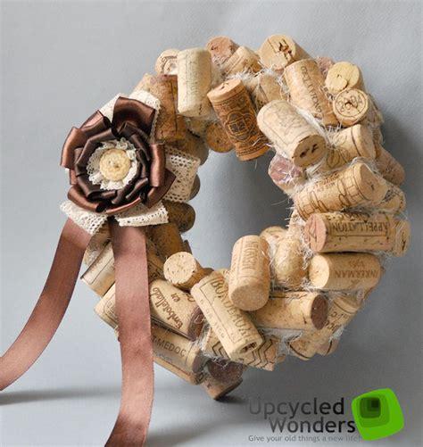 christmas cork crafts christmas door wreaths 18 craft ideas with cheap materials