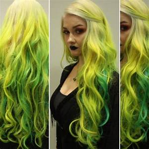 How To Yellow To Blue Green Ombre