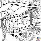 Coloring Thomas Pages Train Truck Halloween Printable Toy Tank Engine Tunnel Garbage Tonka Drawing Friends Colour Colouring Farm Outline Printables sketch template