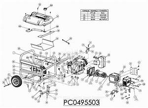 Powermate Formerly Coleman Pc0495503 Parts Diagram For Generator Parts