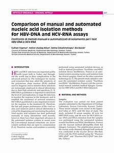 Pdf  Comparison Of Manual And Automated Nucleic Acid