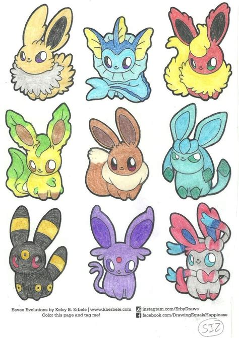 eeveelutions coloring pages Best Eeveelution Squad   ideas and images on Bing | Find what you  eeveelutions coloring pages