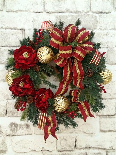 christmas wreath holiday wreath christmas decor outdoor