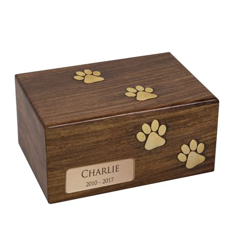 personalized rosewood pet cremation urn
