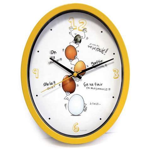 horloge cuisine quot ludik quot jaune