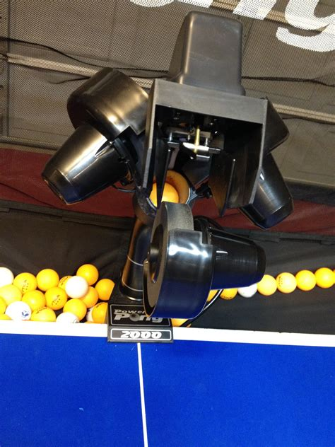 Power Pong 1000 Ball Machine Power Pong Table Tennis