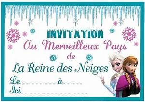 Joyeux Anniversaire Reine Des Neiges : carte invitation anniversaire reine des neiges ~ Melissatoandfro.com Idées de Décoration