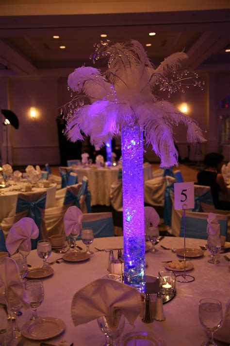 lighted tree centerpieces  weddings led submersible