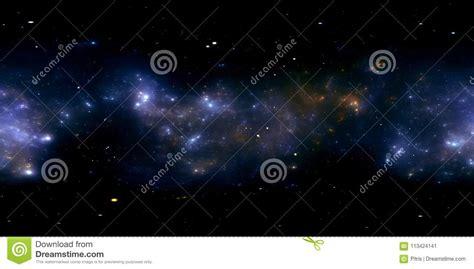 360 Degree Space Nebula Panorama, Equirectangular