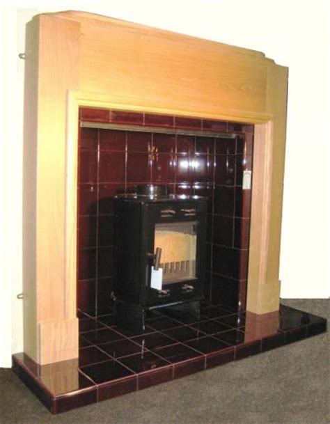 buy   odeon art deco oak mantel fireplace surround