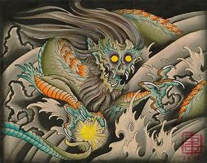 Oni Dragon by Samuel Gosson Japanese Traditional Asian ...