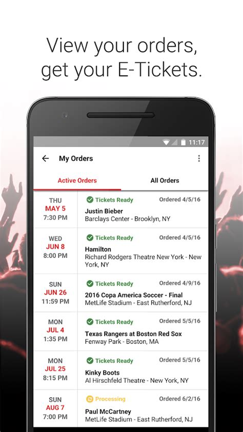 Vivid Seats  Event Tickets  Android Apps On Google Play