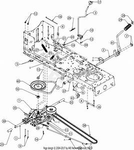 Troy Bilt 13wm77ks011 Pony  2016  Parts Diagram For Drive