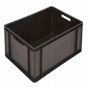 Caisse Plastique Tiroir : caisse plastique maraicher coloris noir ~ Edinachiropracticcenter.com Idées de Décoration