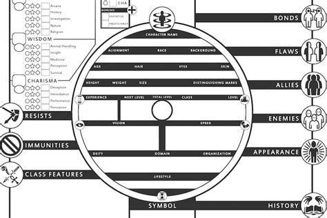 Five Awesome D&d 5e Character Sheets