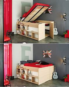 Lit Gain De Place Studio : lit ado 2 places studio secret de chambre ~ Premium-room.com Idées de Décoration