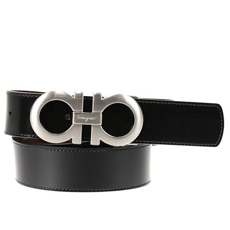 Ferragamo Reversible Belt Gift Box In Silver In Black For