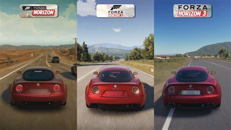 Forza Horizon 1 vs 2 vs 3 - Alfa Romeo 8C Sound Comparison ...