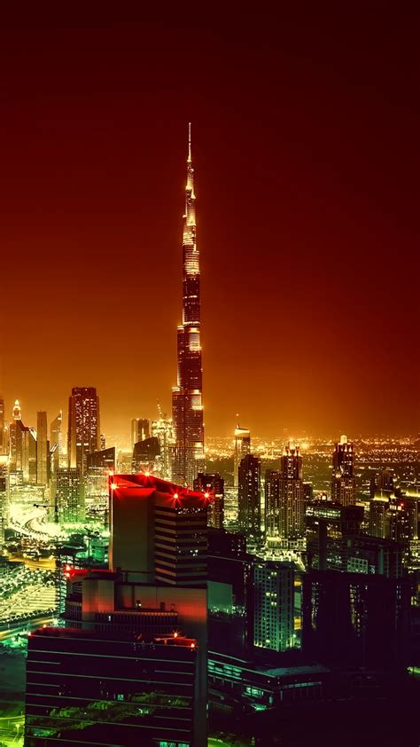 wallpaper burj khalifa dubai cityscape night