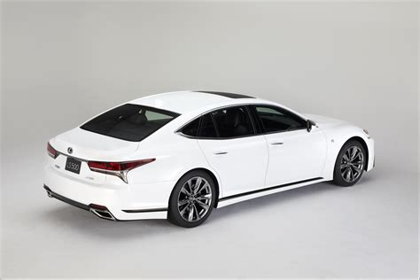 sporty lexus sedan nyias 2017 2018 lexus ls 500 f sport pops its white collar