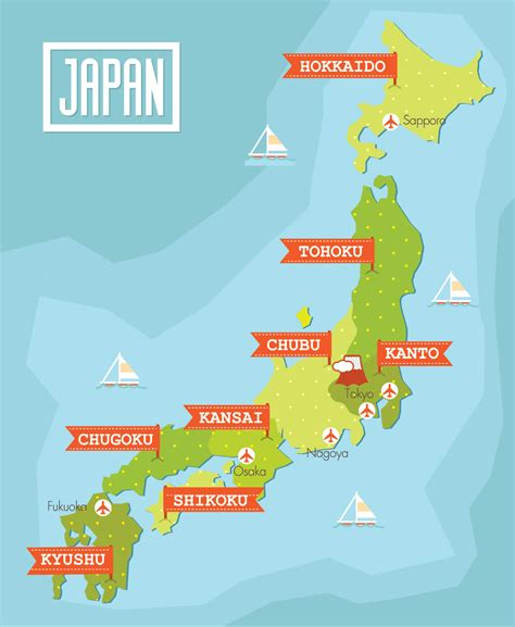 map  japan guide   world