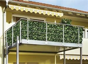 praktischer sichtschutz in 2 ausfuhrungen sichtschutz With französischer balkon mit segeltuch sichtschutz garten